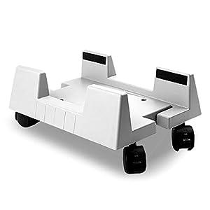 MIRAIS キャスター付き CPUスタンド CPUキャスター (H型 ホワイト) MR-CPUCAMR-H-WH