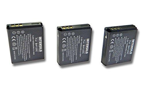 INTENSILO 3x Li-Ion Akku 1050mAh (3.6V) für Kamera Camcorder Video Kodak Pixpro...