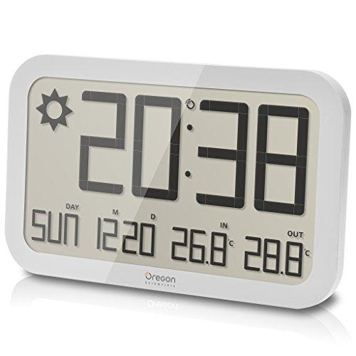 Oregon JW108-weiß Funkwetterstation Wetterstation Wanduhr Uhr Kunststoff Digital