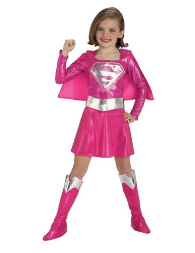 Supergirl Pink Kids Costume Md Kids Girls Costume