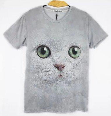24 種類 アニマル Tシャツ 動物 Tシャツ 半袖 Tシャツ おもしろ Tシャツ デザイン Tシャツ animal (XXL, グレー猫)