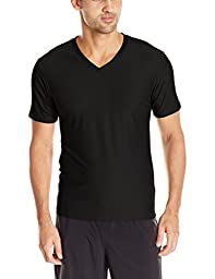 ExOfficio Men\'s Give-n-Go V Underwear Tee, Black, Medium