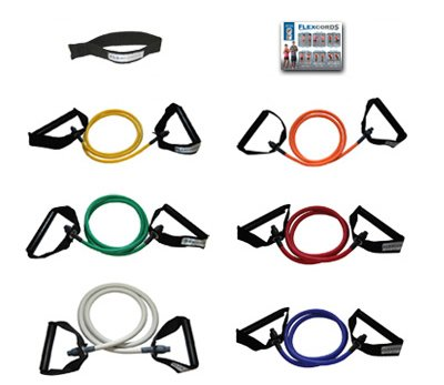 Flexcords Resistance Bands Set includes 6 Exercise Bands