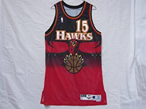 1998-99 Atlanta Hawks #15 Jeff Sheppard Game Worn Jersey