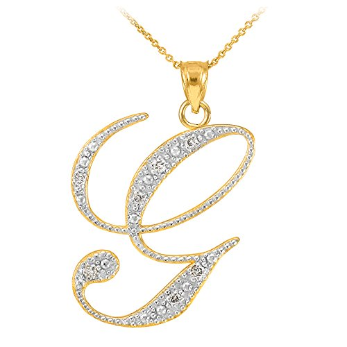14k-Yellow-Gold-Diamond-Script-Initial-Letter-G-Pendant-Necklace-16