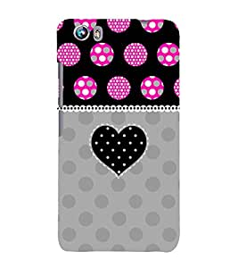 Black Heart 3D Hard Polycarbonate Designer Back Case Cover for Micromax Canvas Fire 4 A107