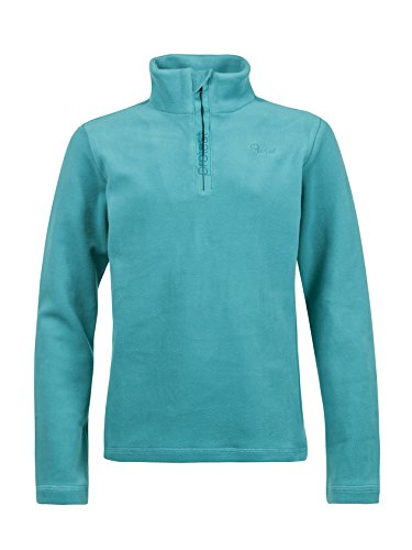 Protest felpa da sci da bambino mutey Jr 1/4 Zip Top Pullover in pile Teal Green 152
