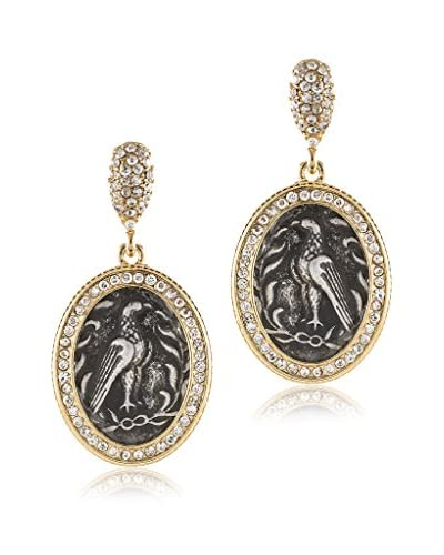 Jardin Oval Eagle Medallion Earrings
