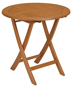 Strathwood Basics Folding Hardwood Bistro Table