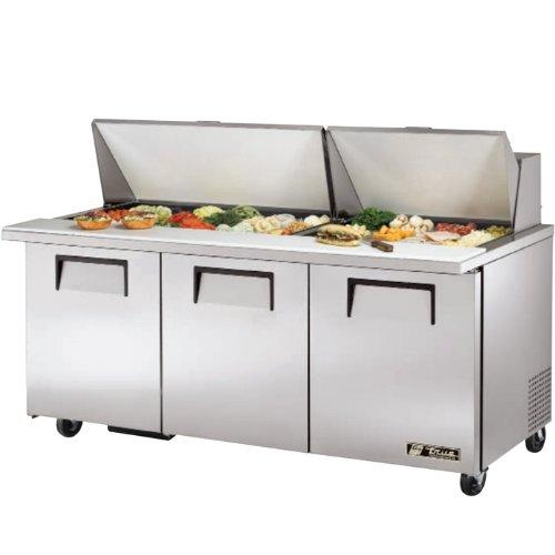 True Mfg TSSU-72-30M-B-ST, 72 Wide Mega Top Sandwich/Salad Prep Unit