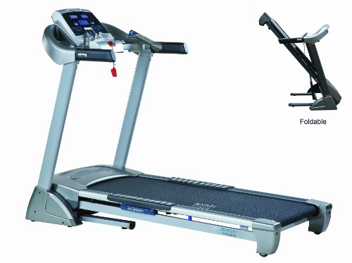 BENTLEY DELUXE MOTORISED ELECTRIC FOLDING TREADMILL, 20KM MAX SPEED, 3 LEVELS MANUAL INCLINE, BUILT IN SPEAKERS, MP3 INTERFACE, 24 PROFESSIONAL RUNNING PROGRAMS, FOLDING AND WHEELS