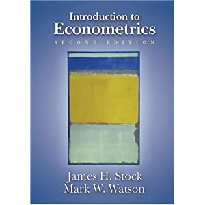 Introduction to Econometrics, 2nd Edition James H. Stock, Mark W. Watson