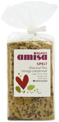 Amisa Organic Chia Flax Spelt Omega Crispbread 200 g (Pack of 6)