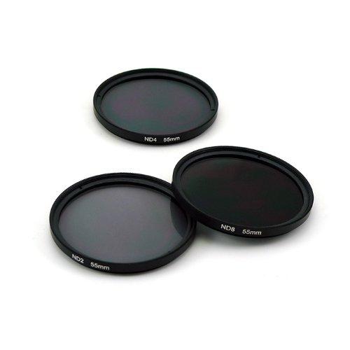 Zeadio® 58mm Grau Neutral Graufilter Objektive inkl ND2 ND4 ND8 für alle 58MM DSLR Kamera Canon EOS 1DX 5D Mark 5D2 5D3 6D 7D 10D 30D 40D 50D 60D 70D 350D 400D 450D 500D 550D 600D 650D 700D 1000D 1100D Rebel XSi T4i T3i LF134 or Nikon D1 D2 D3 D40 D50 D60 D70 D80 D90 D100 D200 D300 D600 D700 D800 D3000 D3100 D3200 D3300 D5000 D5100 D5200 D5300 D7000 D7100 usw.