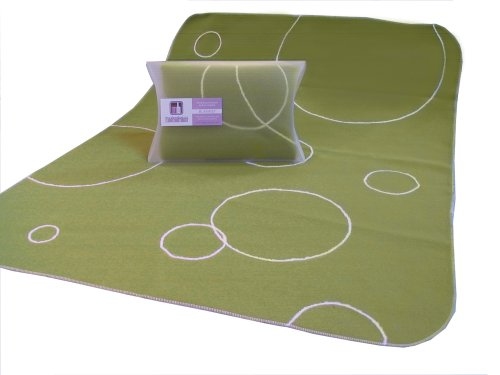 Modern Basics Green Bubble Blanket 40X30