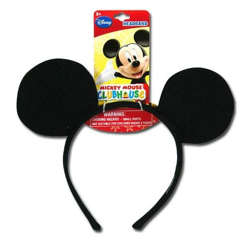 Official Licensed Mickey Classic Ear Shaped Headband with Hangtag - 1