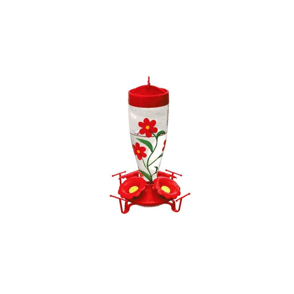 Garden Treasures Red Flowers Hummingbird Feeder HB 0154B