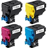 Set of 4 Compatible Konica Minolta Magicolor 4750 Laser Toner Cartridges. A0X5150 Black, A0X5451 Cyan, A0X5351 Magenta and A0X5251 Yellow