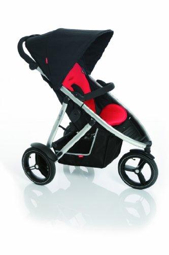 Phil&Teds Vibe2 Stroller, Black/Red front-3094