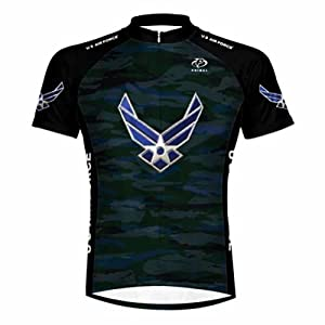Primal Wear U.S. Air Force Engage USAF Cycling Jersey Mens Short Sleeve by Primal