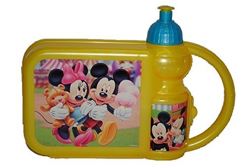2-in-1-Brotdose-mit-Trinkflasche-Minnie-und-Mickey-Mouse-Set-Brotbchse