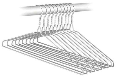 Whitmor 6022-3358-10 Everyday Hangers, Set of 10
