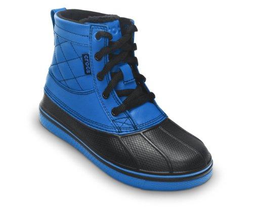 Crocs - Kids Boys AllCast Duck Boot Boys Shoes, Size: 3 M US Little Kid, Color: Sea Blue/Black