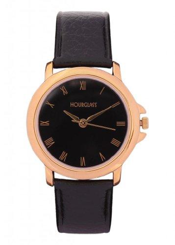 Hourglass Bound Elegance Analogue Black Dial Men's Watch
