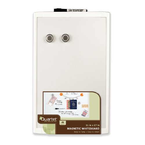 Quartet Magnetic Dry Erase Board, Plastic Frame, 11 x 17 Inches, White (MHOW1117)
