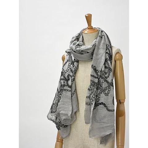 Faliero Sarti【ファリエロサルティ】ストール 2092 modal virginwool silk Katry(チェーン ライトグレー)