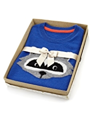 Autograph Pure Cashmere Raccoon Jumper in Gift Box