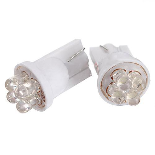 Toogoo(R) 2X W5W T10 501 Xenon White 4 Led Sidelight / Number Plate / Interior Bulb Light