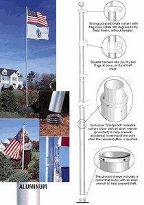 Topflight Telescoping 20Ft Flagpole