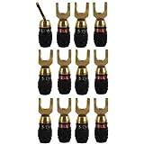 Sewell Deadbolt 45° Spade Plugs, 6 Pack