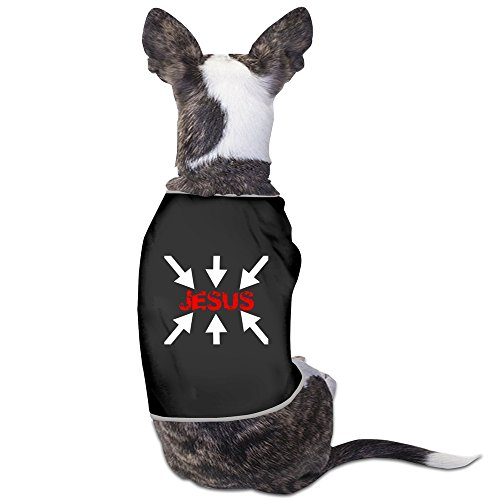 CATME Doggie Look At Jesus Christ 100% Cotton Vest Black