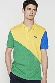 Men's Rio Color Blocked Pique Polo