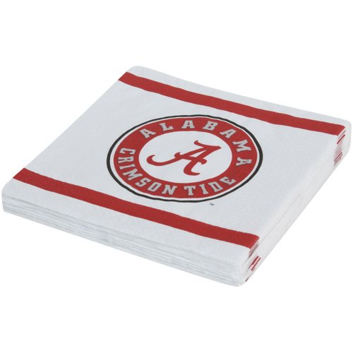 Mayflower Distributing Company 24 Count University of Alabama Beverage Napkin, Multicolor