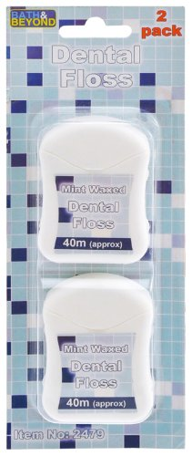 Bath and Beyond Mint Waxed Dental Floss 40m Approx (2 Pack)