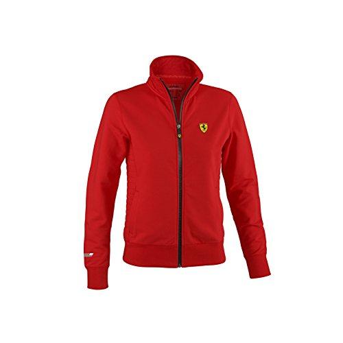 ferrari-scuderia-zip-sweatshirt-f1-damen-jacke-sportjacke-jacket-rot-baumwolle