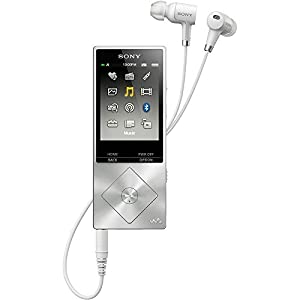 Sony 64GB Hi-Res Walkman Digital Music Player with Noise Cancelation - Silver (NWA27HNSM) with Sony 32GB micro SDHC Class 10 UHS-1 Memory Card & Belkin Speaker and Headphone Splitter from Sony
