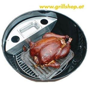 grillshop smoking grill for weber charcoal barbecue 67 xxl kitchen home. Black Bedroom Furniture Sets. Home Design Ideas