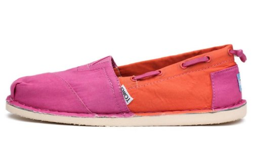 Toms Womens Bimini Stitchouts Pink Orange 002018B13-Pink