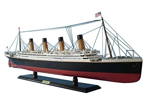 Britannic Limited 40 - Wood Cruise Ship Model - Wooden Ocean Liner Replica - Nautical Decoration - Historic Cruise Ship Model - Sold Fully Assembled - Not A Model Ship Kit by Handcrafted Model Ships (Britannic Model compare prices)