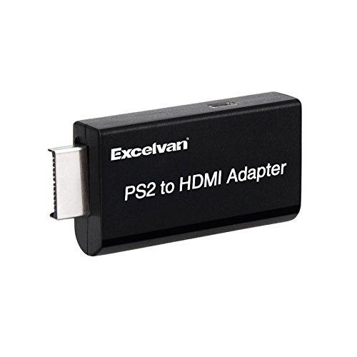 Excelvan PS2専用HDMI接続コネクター PS2 toHDMI 変換アダプターHDMI出力 携帯便利 PS2 TO HDMI CONNECTOR PS2をお楽しみ 本体重量:15g G300