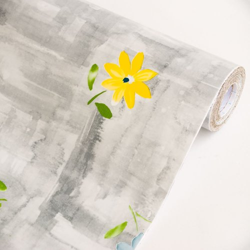 Flowers In Watercolor-1 - Vinyl Self-Adhesive Wallpaper Prepasted Wall Stickers Wall Decor (Roll) front-388502
