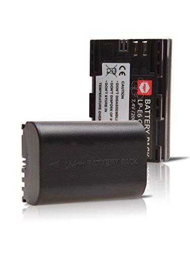 2 x batteries LPE6 LP-E6 MP EXTRA ® pour CANON reflex - Batterie optimisée pour CANON EOS 60D , EOS 7D , EOS 5D MK II