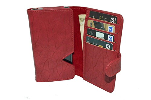 TOTTA PU Leather Wallet Pouch with Card Holder HTC Desire 600c Dual Sim
