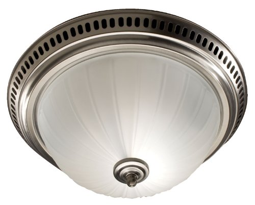 Broan 741SN Decorative Ventilation Fan and Light, Satin Nickel