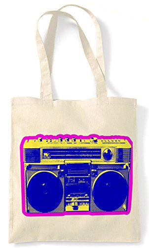 Boom Box, Retro Shopping Bag