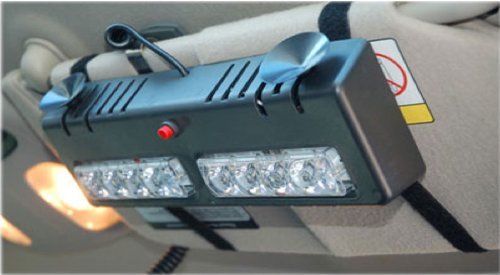 Green White Ex-04 Led Dual Visor Strobe